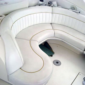 seattle pleasure boat vinyl upholstered sun deck seating