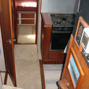 seattle pleasure boat carpeted galley