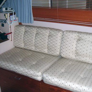 upholstered yacht sofa converts to bunk