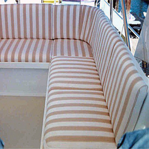 seattle yacht sundeck upholstered in sunbrella fabric