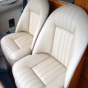 seattle yacht helm chairs upholstered in white vinyl