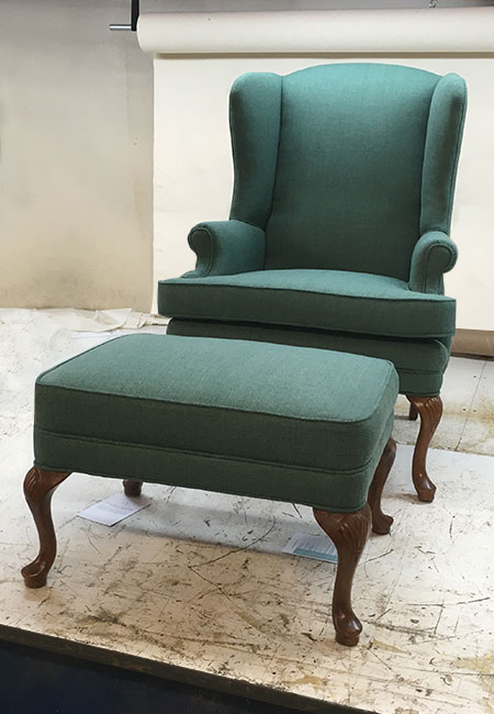 old wingback chair